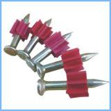 Drive pin con el PVC rojo Lavadora, Tiro clavo de alambre (fábrica de Guangzhou)