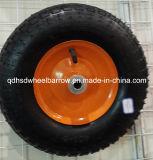 Orlo d'acciaio una rotella di gomma 4.00-6 da 13 pollici per la carriola