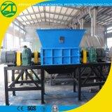 Défibreur en plastique d'arbre de qualité double pour le pneu/bois/mousse/déchets solides/mitraille