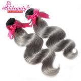 Cheveu malaisien de Vierge de cheveux humains de couleur d'Ombre
