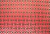 Fibra de carbono Kevlar vermelho e preto de 3k 200g