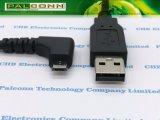 USB2.0 Am ao micro cabo do USB um ângulo de 90 graus
