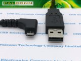 마이크로 USB 케이블에 USB2.0 90 도 각