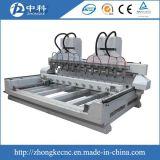 マルチスピンドル4軸線CNCのルーター機械