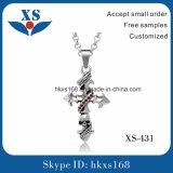 Fascini Pendant trasversali della collana dei monili dell'acciaio inossidabile per gli uomini