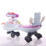 Passeio encantador da asa do bebê no carro do brinquedo com venda por atacado do espaldar
