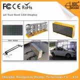 O dobro toma o partido indicador de diodo emissor de luz superior do táxi/carro da cor cheia