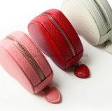 분홍색 심혼 Lichee 패턴 PU 가죽 팔찌 포장 상자