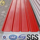 0.3 El espesor prepintó la hoja de acero galvanizada para el material de material para techos