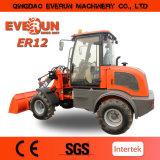 Everun landwirtschaftliche Maschinen das 1.2 Tonnen-Minirad-Ladevorrichtung mit halten Wanne fest