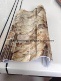 Ligne en pierre de marbre artificielle d'imitation de panneau de panneau de feuille de PVC WPC