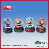 Globo de la nieve de la Navidad de Papá Noel del regalo del recuerdo del estilo de la manera