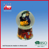 Halloween Water Globe Witch Pumpkin Glass Snow Globe con Music