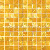 Mattonelle di mosaico di vetro rosse calde e lucide per la decorazione