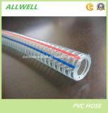 Boyau renforcé de fil d'acier de PVC de plastique pour la poudre de l'eau et le débit d'industrie