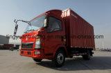 低価格4X2 HOWOの軽トラック、ボックストラック