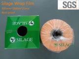 film van de Omslag van het Kuilvoeder van 500mm*1800m*25um de Opgeblazen in Oranje Kleur