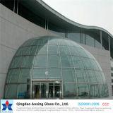El vidrio curvado por encargo para el vidrio del edificio/dobló el vidrio
