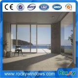 Bianco rivestito della polvere popolare di stile che fa scorrere finestra di alluminio