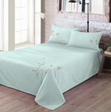 Duck Green a Plum Flowers Bordados Conjuntos de roupa de cama