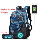 Sac lumineux de sac à dos avec le port USB