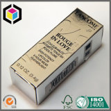 Rectángulo de empaquetado cosmético plegable del regalo de papel de Kraft de la impresión a todo color