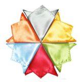 Носовой платок благородных людей оптового цвета равнины способа Silk (WH02)