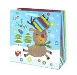 크리스마스 선물은 반짝임과 포일 우표, 서류상 선물 부대, 선물 부대, Kraft 종이 선물 부대로 자루에 넣는다