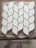 Mini telha de pedra branca do mosaico da telha do tijolo