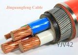 fita de aço de cobre do cabo distribuidor de corrente 0.6/1kv XLPE/PVC blindada