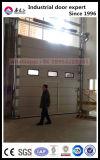 Porte de levage industrielle verticale avec le guichet
