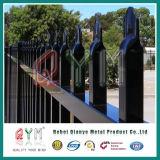 Frontière de sécurité de piquet soudée de fer travaillé de lance/frontière de sécurité de piquet élevée amovible en acier