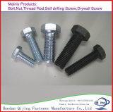 Dispositifs de fixation de standard de qualité de Handan, boulons DIN931/933 Hex à haute résistance, 8.8 boulons de pente et noix