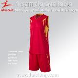 メンズスポーツ・ウェアのカスタムバスケットボールのユニフォームのジャージデザイン