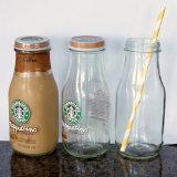 Vaso di vetro su ordinazione dell'alimento con il coperchio del metallo