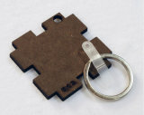 Sublimation Keychain de madeira do Keyring do MDF da forma do enigma