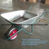 Wheelbarrow galvanizado Wb6418 da bandeja com a roda do ar 4.00-8