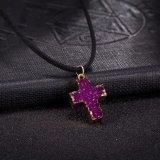 方法クリスタルグラスの十字の吊り下げ式の女性のネックレスの十字の吊り下げ式のネックレスの女性の方法新しいデザインネックレス