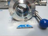 Ss304/Ss316Lの衛生ステンレス鋼の溶接された蝶弁(ACE-DF-2WF)