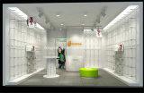 高品質の子供の靴店の家具のための木製の子供の靴ラック