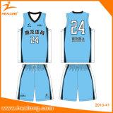 Healongデザイン軽量の最もよいバスケットボールジャージー