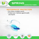 Protector impermeable antibacteriano, microbiano claro de plata del colchón para el hogar
