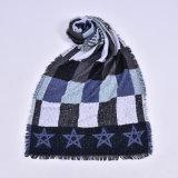 Кашемир женщин акриловый реверзибельный как шарф шали зимы печатание звезды теплый толщиной связанный сплетенный (SP270)