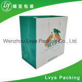 중국에서 손잡이를 가진 새로운 주문을 받아서 만들어진 물색 선물 종이 봉지