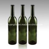 Botella de cristal de vino de Burdeos para el vino rojo