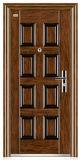 競争の単一の鉄のドアの外部ドア(FD-016)が付いている高品質の鋼鉄ドア