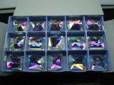 El cristal elíptico multicolor cose en la piedra (DZ-3070)