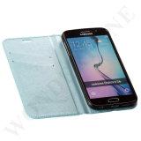Caja vendedora caliente del cuero del teléfono móvil del tirón de China para Samsung