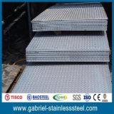 catalogue des prix Checkered de plaque d'acier inoxydable d'épaisseur de 201 1.2mm