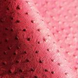 Cuero de imitación de los bolsos del PVC de la textura de la avestruz